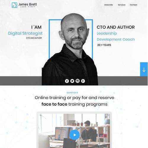 Design Concept for James-brett.com