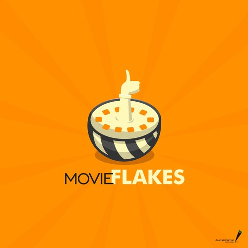 Movie Flakes Logo Design