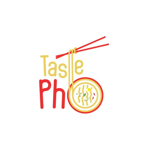"Happy & Playful Logo for ""Taste Pho"""
