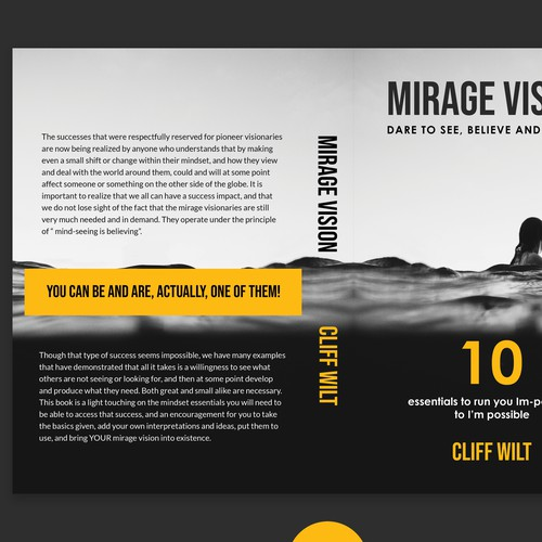 Mirage Vision Book cover design entry