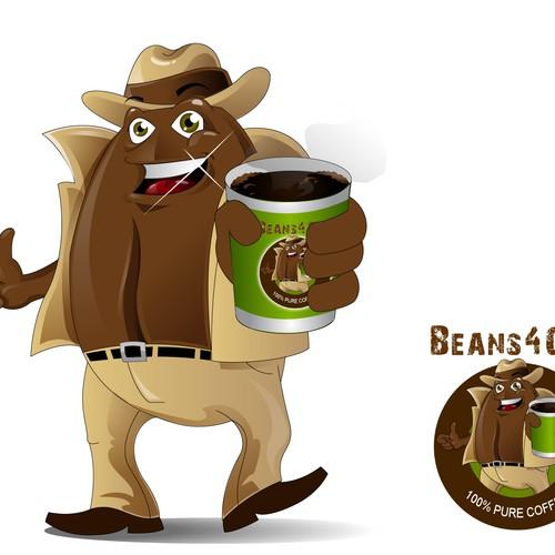 Coffee Bean Mascot
