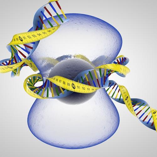 DNA measuring tape illustration