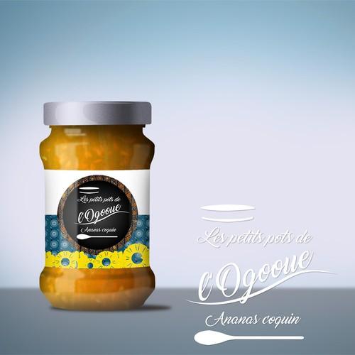 """Logo pour """"les petits pots de l'ogooue"""""""