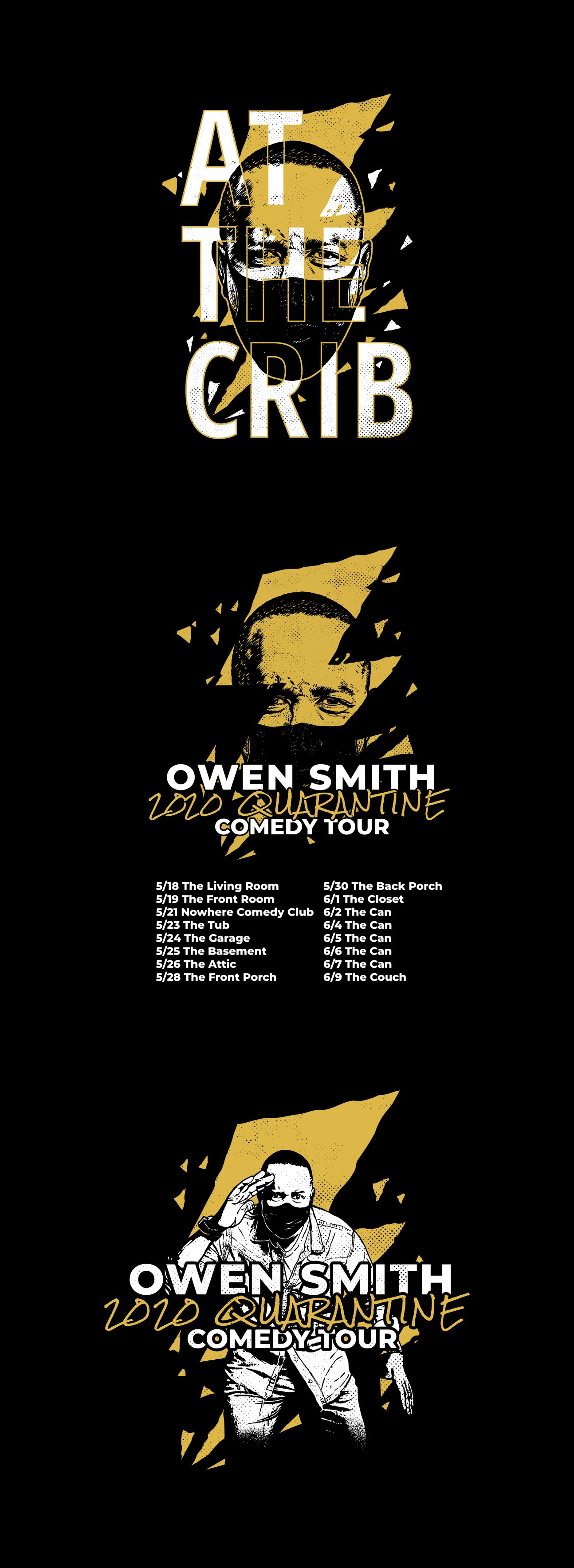 Owen Smith 2020 Quarantine Comedy Tour