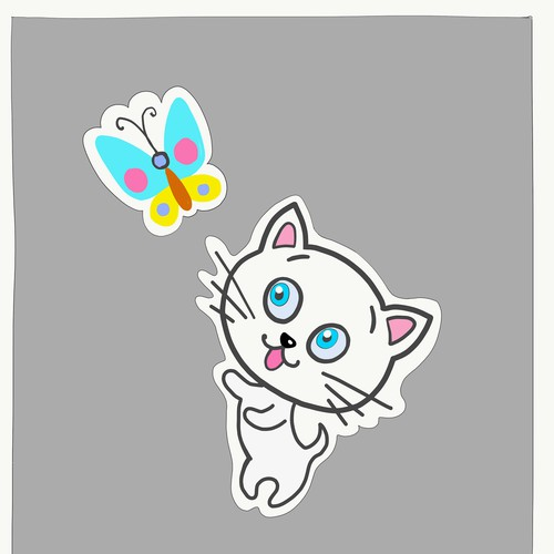 Талисман милый котенок