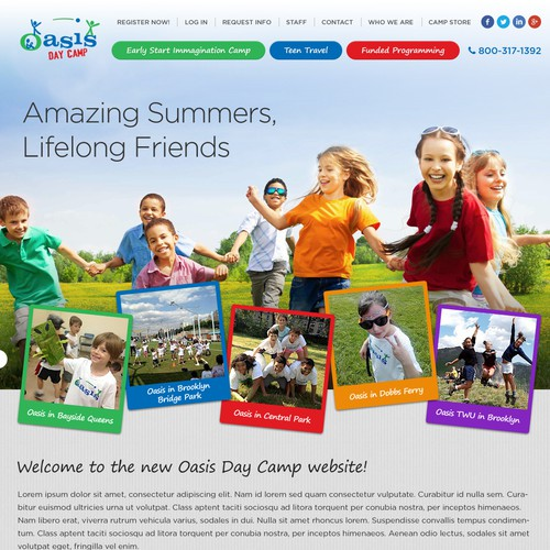 Create an amazing new website design for oasischildren.com