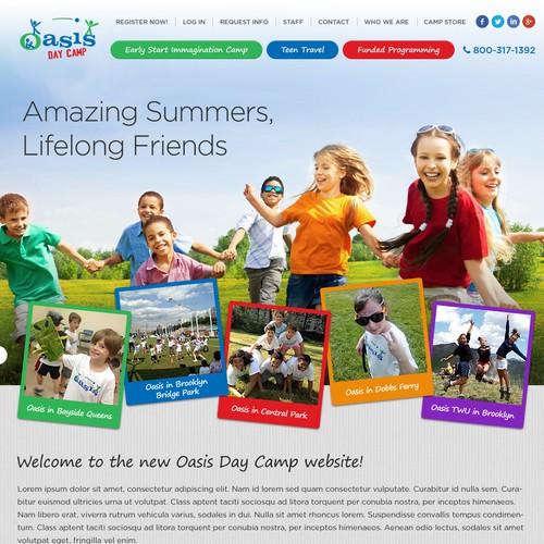 Create an amazing new website design for oasischildren.com