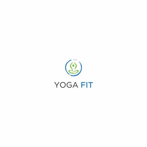 Fitness and yoga logo for online company