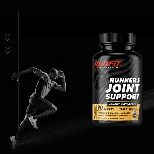 RunFit sport supplement label design