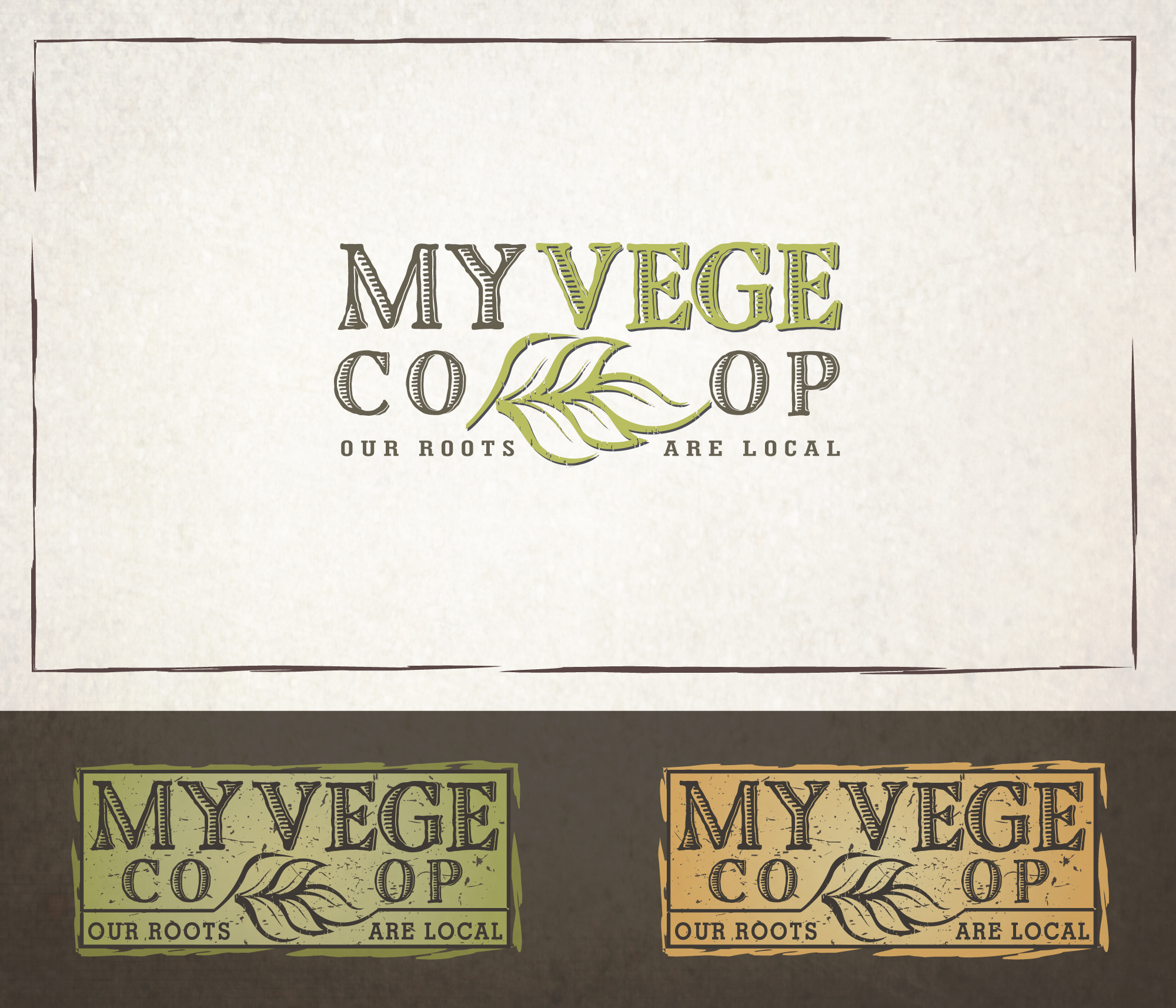 Create an edgy logo for a community based food start up