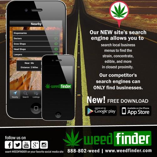 WeedFinder.com's New Print Ad