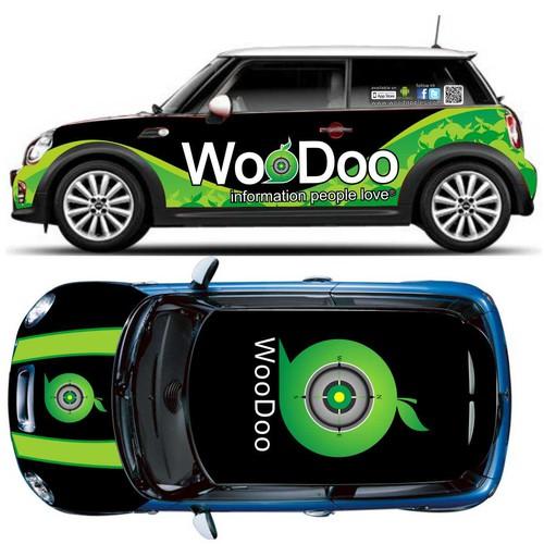 Woodoo Car Wrap