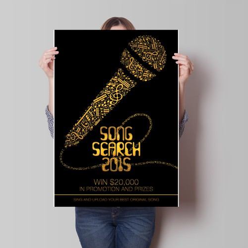 Create an Exciting Eye-Catching Poster for Song Search 2015