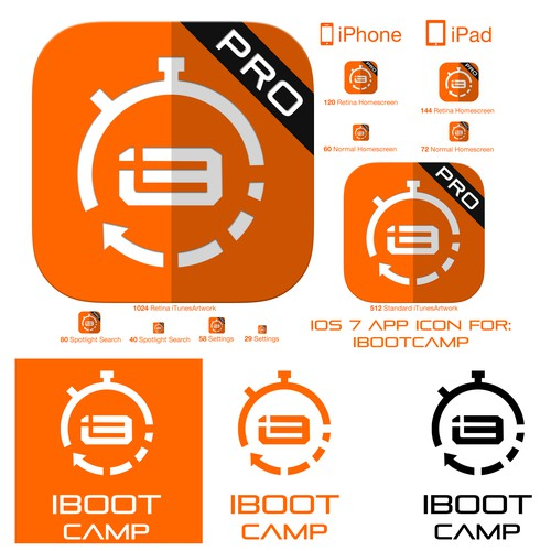 icon or button design for iBootcamp