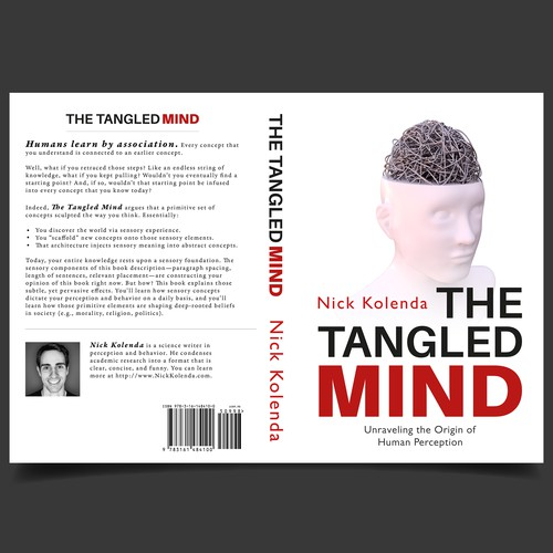 "Book Cover concept for ""The Tangled Mind"""