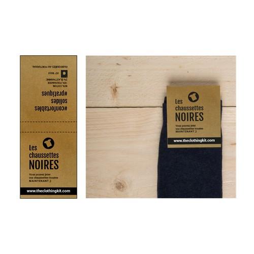 Etiquette pour la marque Les chaussettes noires