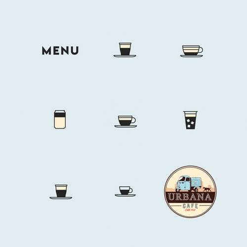 Simple and clean menu for Coffee Shop