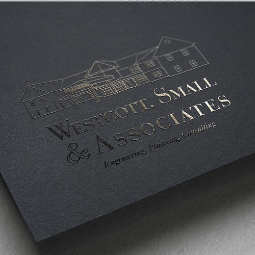 Logo concept for Westcott, Small & Associates real estate firm