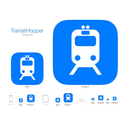 App Icon for iPhone and Apple Watch (Public Transport)