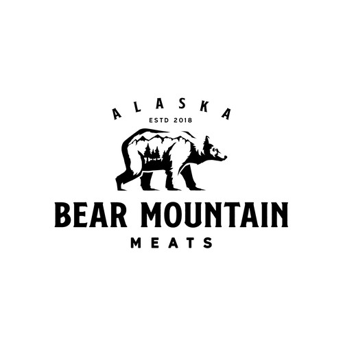 Alaska meat processing company logo