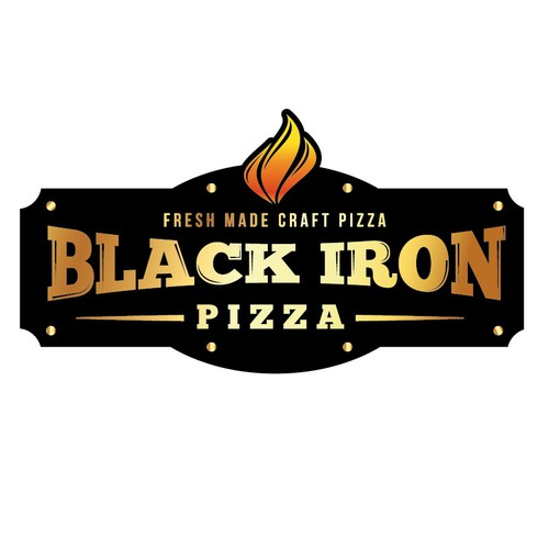 Help Black Iron Pizza  with a new logo