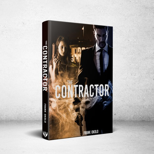 Book cover design for The Contractor