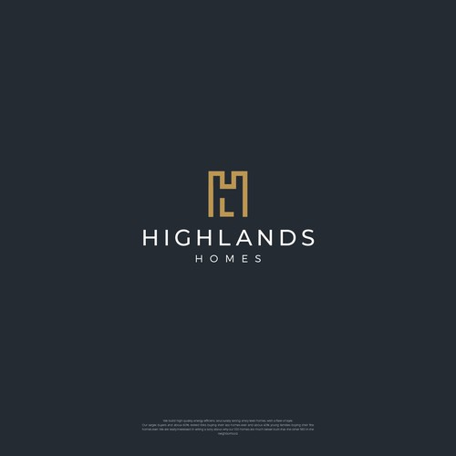 Highlands Homes logo design