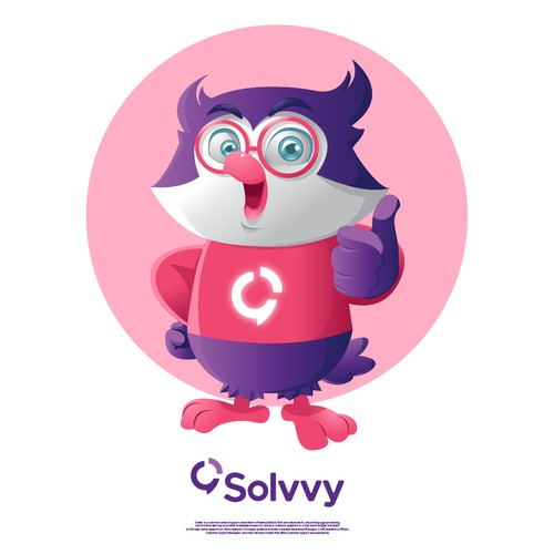 Mascot for a customer support software