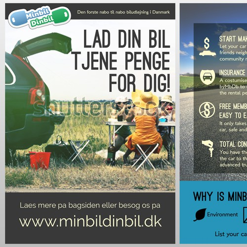 Help MinbilDinbil with a new postcard or flyer