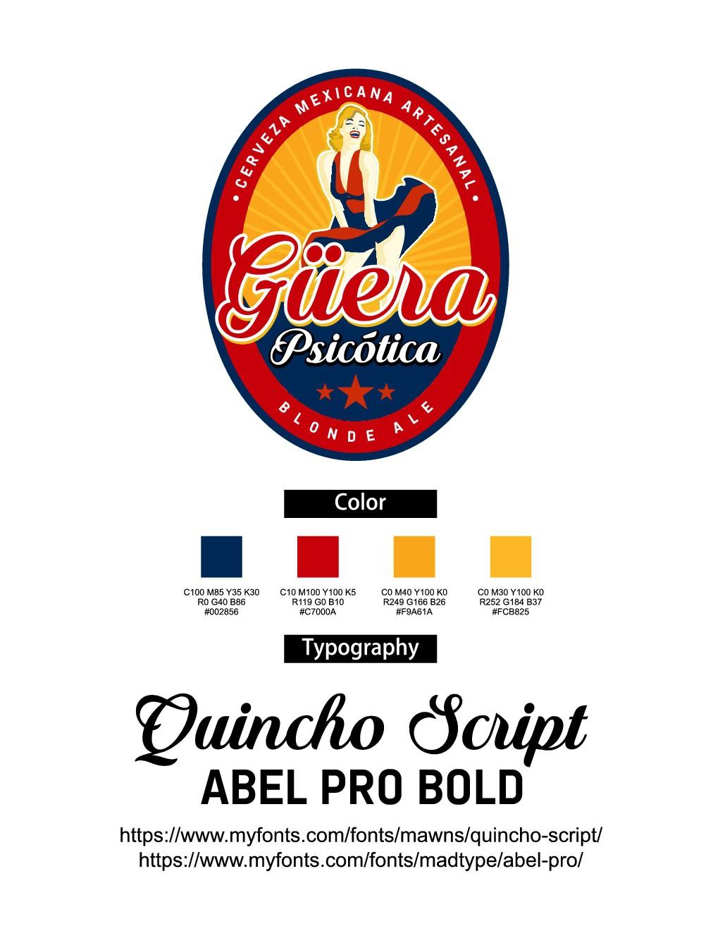 Logotipo para cerveza artesanal clara (blonde ale)