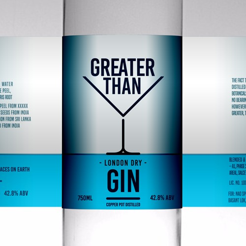 Clean and Bold brand packaging for a Gin