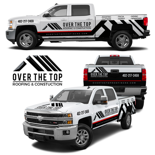 Over the Top Roofing Vehicle Wrap