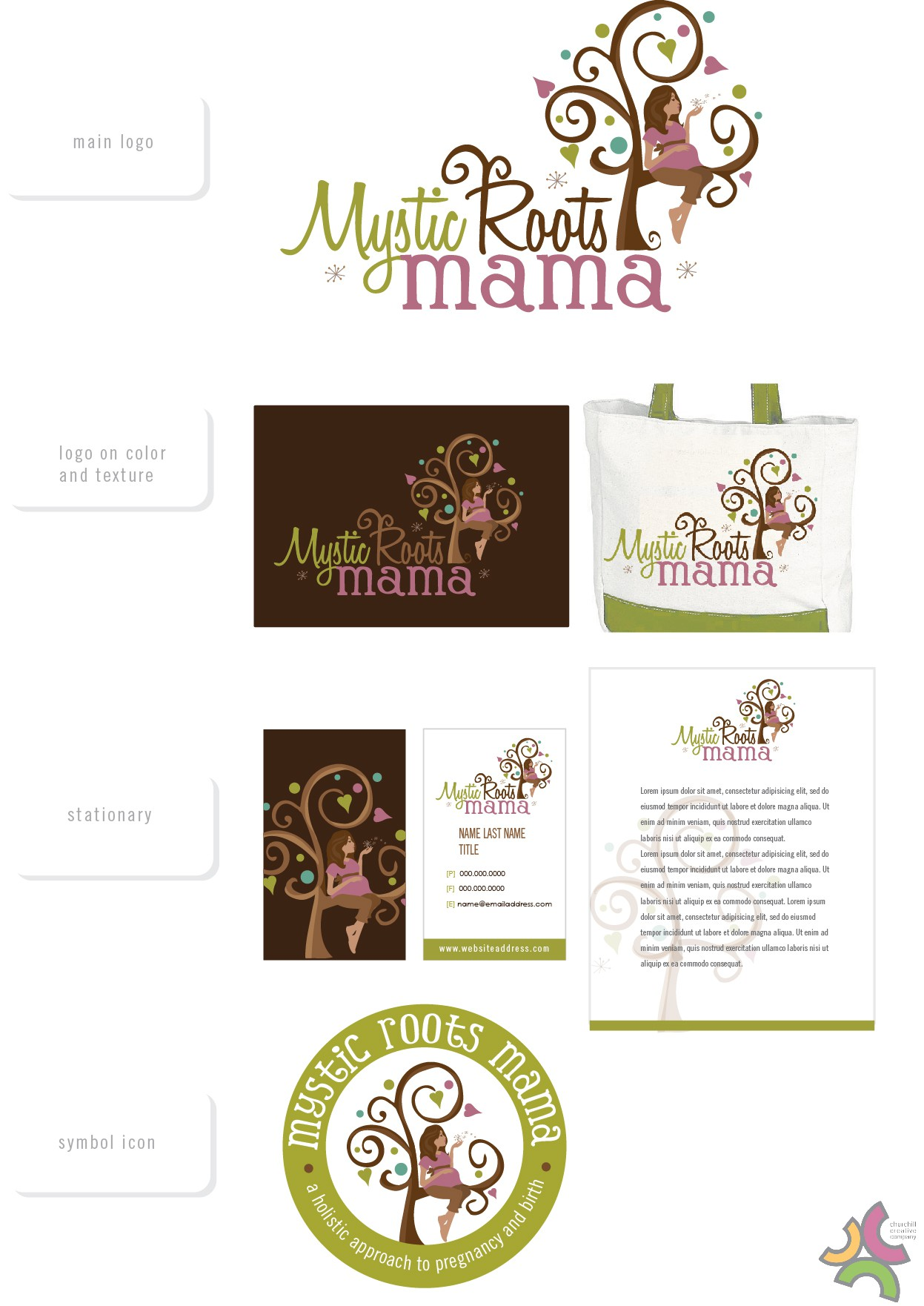 logo for Mystic Roots Mama