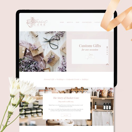 BasketCase Website Design