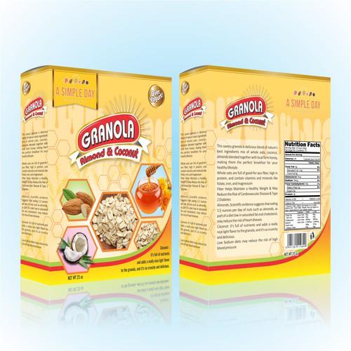 A Simple Day Granola Box Design