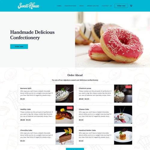 Bakery online ordering webpage