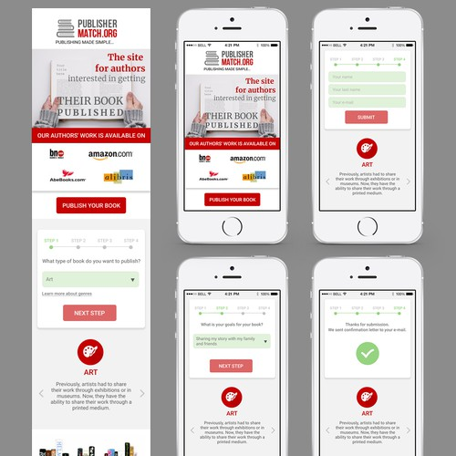 Mobile First Landing Page for Lead Generation