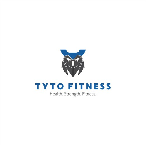 Bold logo for fitness business