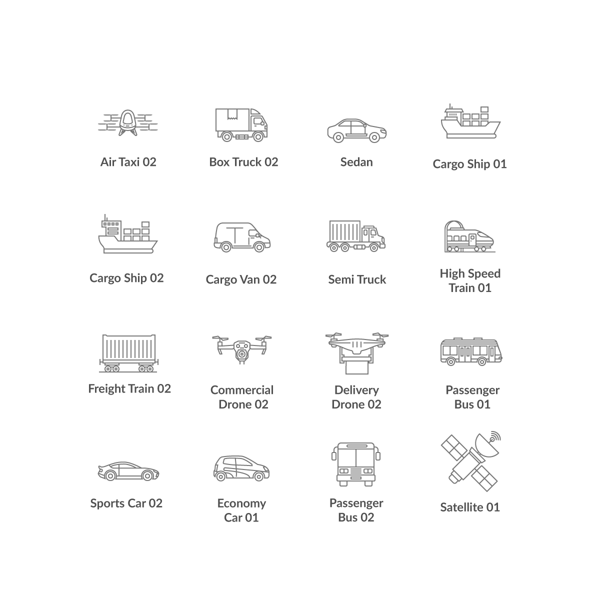 Solution Architecture Icons (Reversible Line Versions)