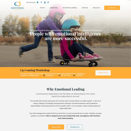 Web Page Design for Emotional Leading