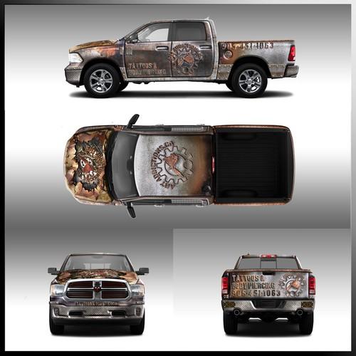Truck Wrap of Tattoos & Body Piercing