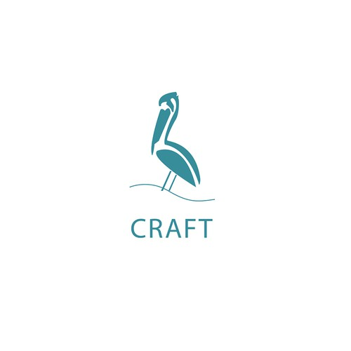 Craft -pelican logo for woodworking company