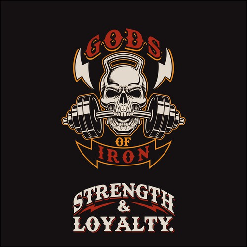 T-shirt design for Gym With Heavy Metal Theme