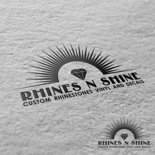 simple logo for Rhines n shine