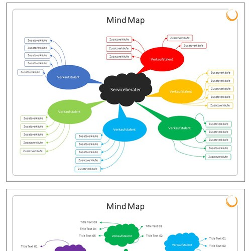 Colorful Power Point Presentation Mind Map