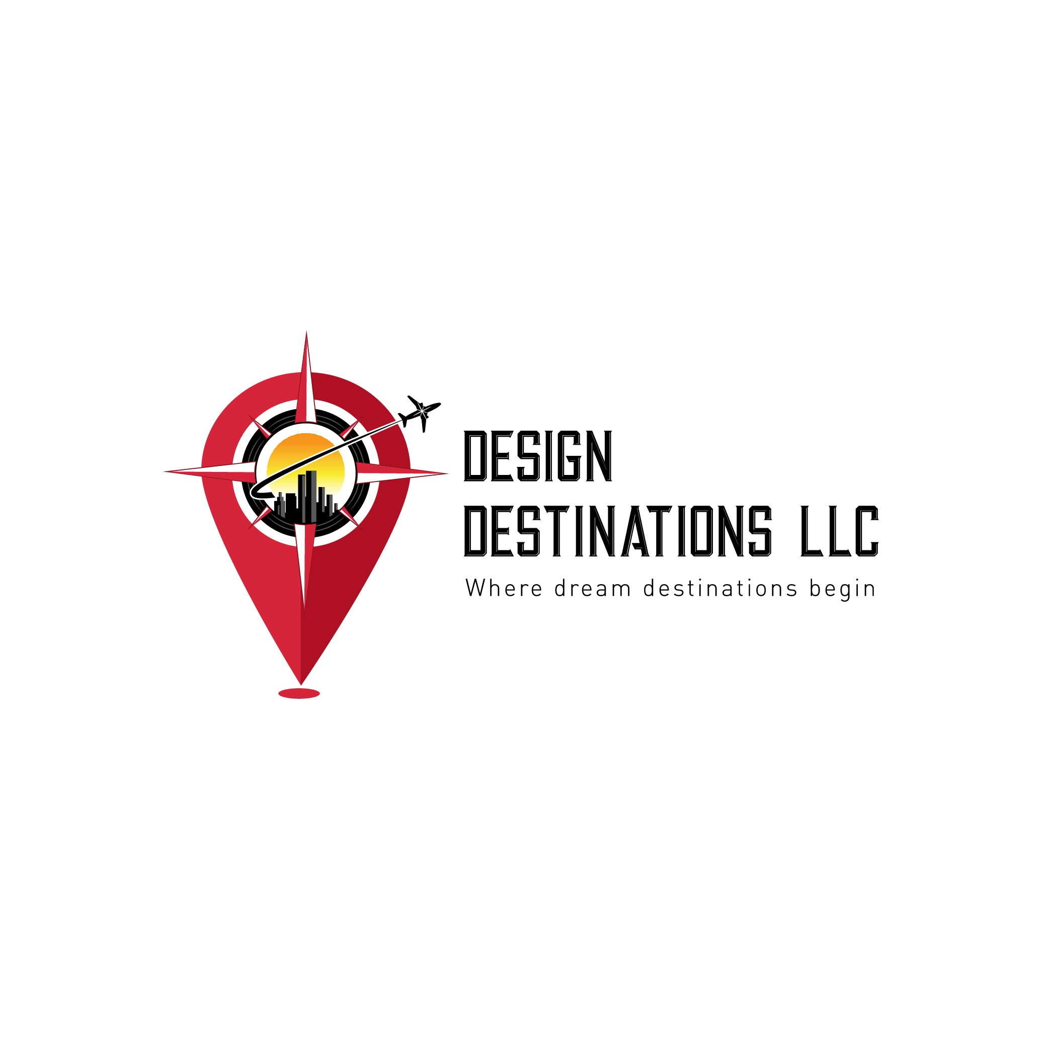 Design Travel Agent Company logo (From Atlanta, 1/2 Asian, 1/2 Black and what it to represent me)