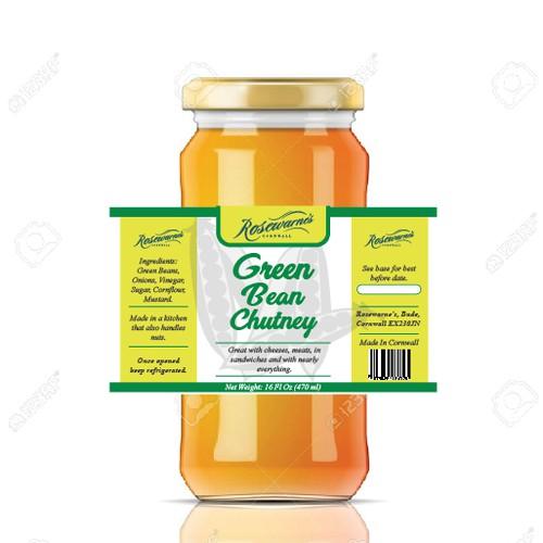 GREEN BEAN CHUTNEY LABEL