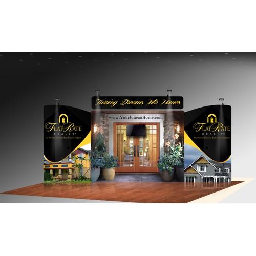 trade show display for Alaska Real estate company