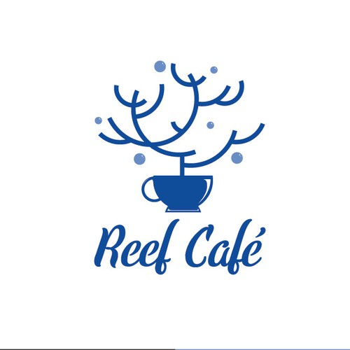 Logo concept for a Cafe inside of an aquarium