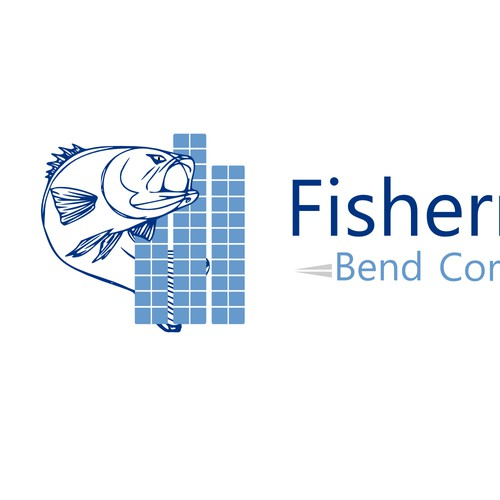 logo for fisherman for construction company